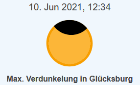 Partielle Sonnenfinsternis am 10. Juni 2021